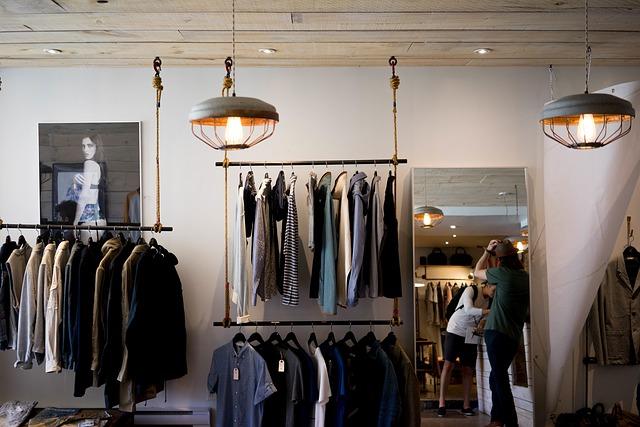 regal sklepowy odzieżowy LINE 08